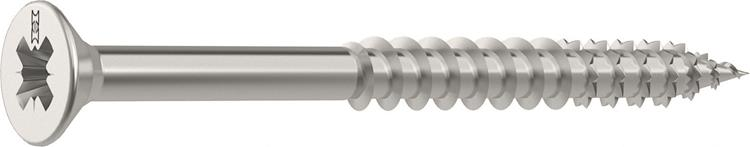 HECO FIX-PLUS schroeven POZI platkop 6 x 100 mm PZ3 RVS Deeldraad 100 ST.