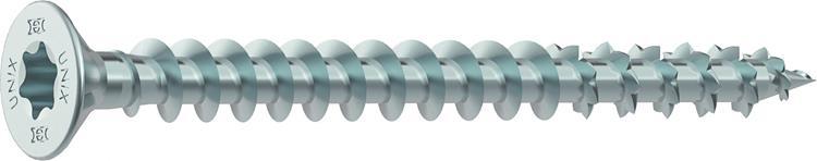 HECO UNIX PLUS schroeven TORX platkop 3,5 x 12 mm T15 VERZINKT VOLDRAAD 200 ST.