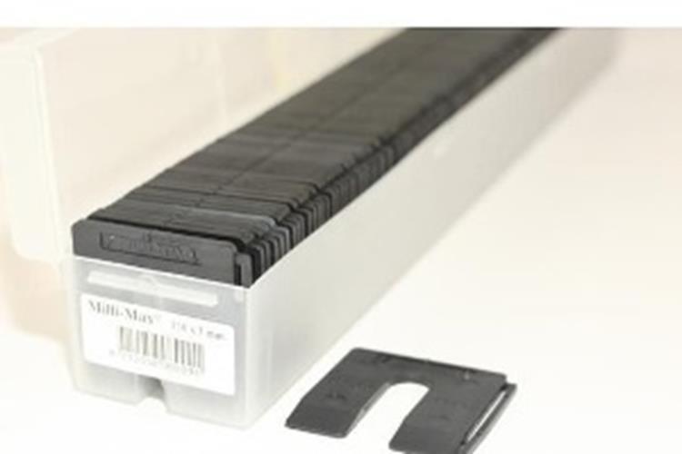 MILLI-MAX uitvulplaatjes 3 mm ZWART 130 ST.