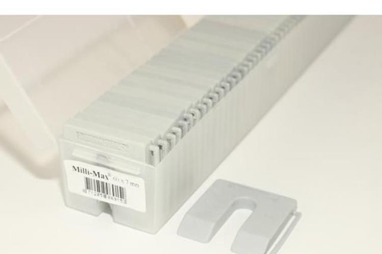 MILLI-MAX uitvulplaatjes 7 mm GRIJS 60 ST.