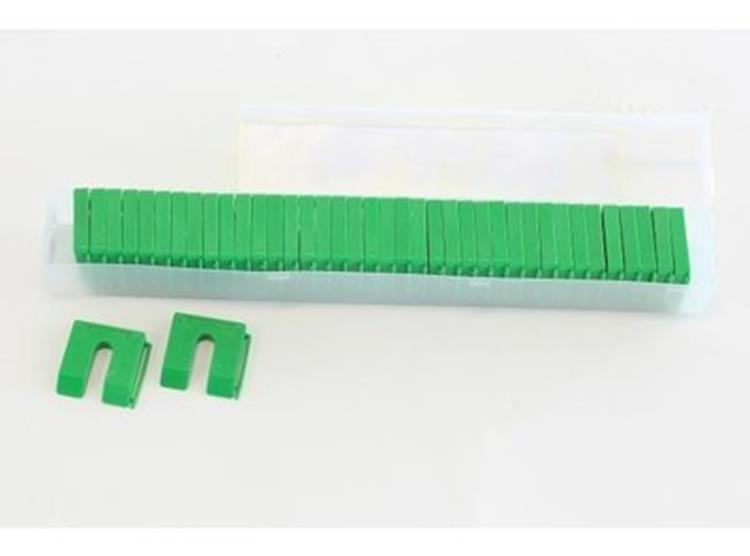 MILLI-MAX uitvulplaatjes 10 mm GROEN 40 ST.