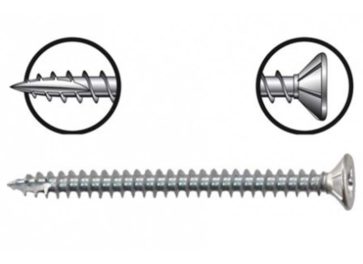 STARX PRO spaanplaatschroeven POZI snijpunt 5 x 80 mm PZ2 VERZINKT DEELDRAAD 100 ST.
