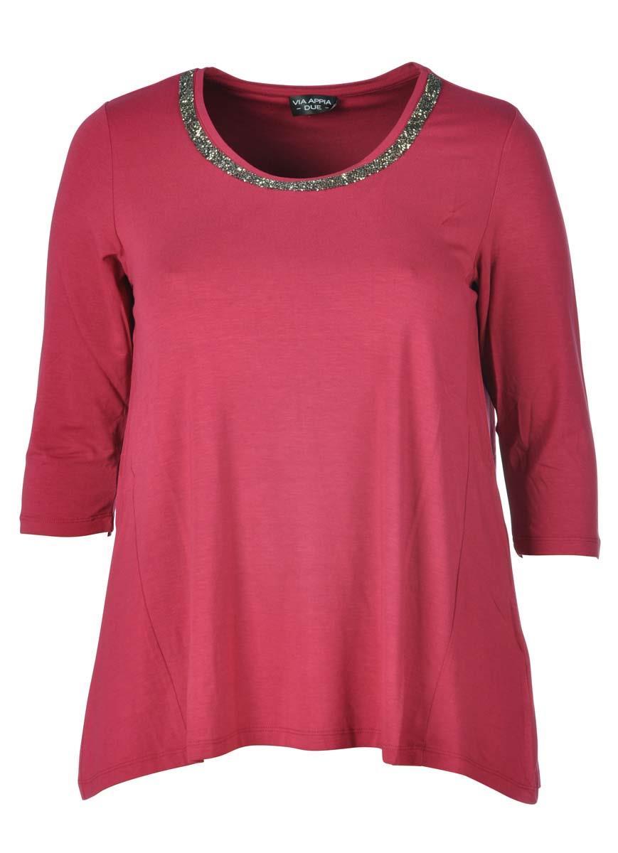 9c6019f6436353 Via Appia Due shirt 647941 Rood. Zoom
