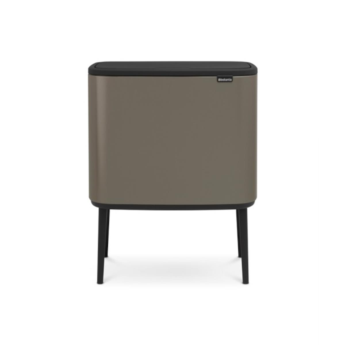 Brabantia Touch Bin 30 Liter Wit.Brabantia Bo Touch Bin Afvalemmer 11 23 L Platinum