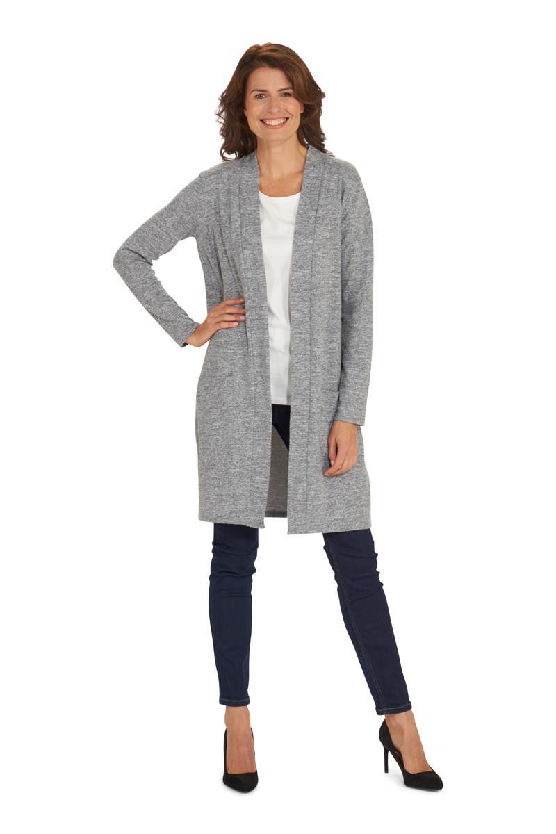 Genoeg Dames Half Lang Vest Gemêleerd in Grijs - Miller & Monroe #PL94