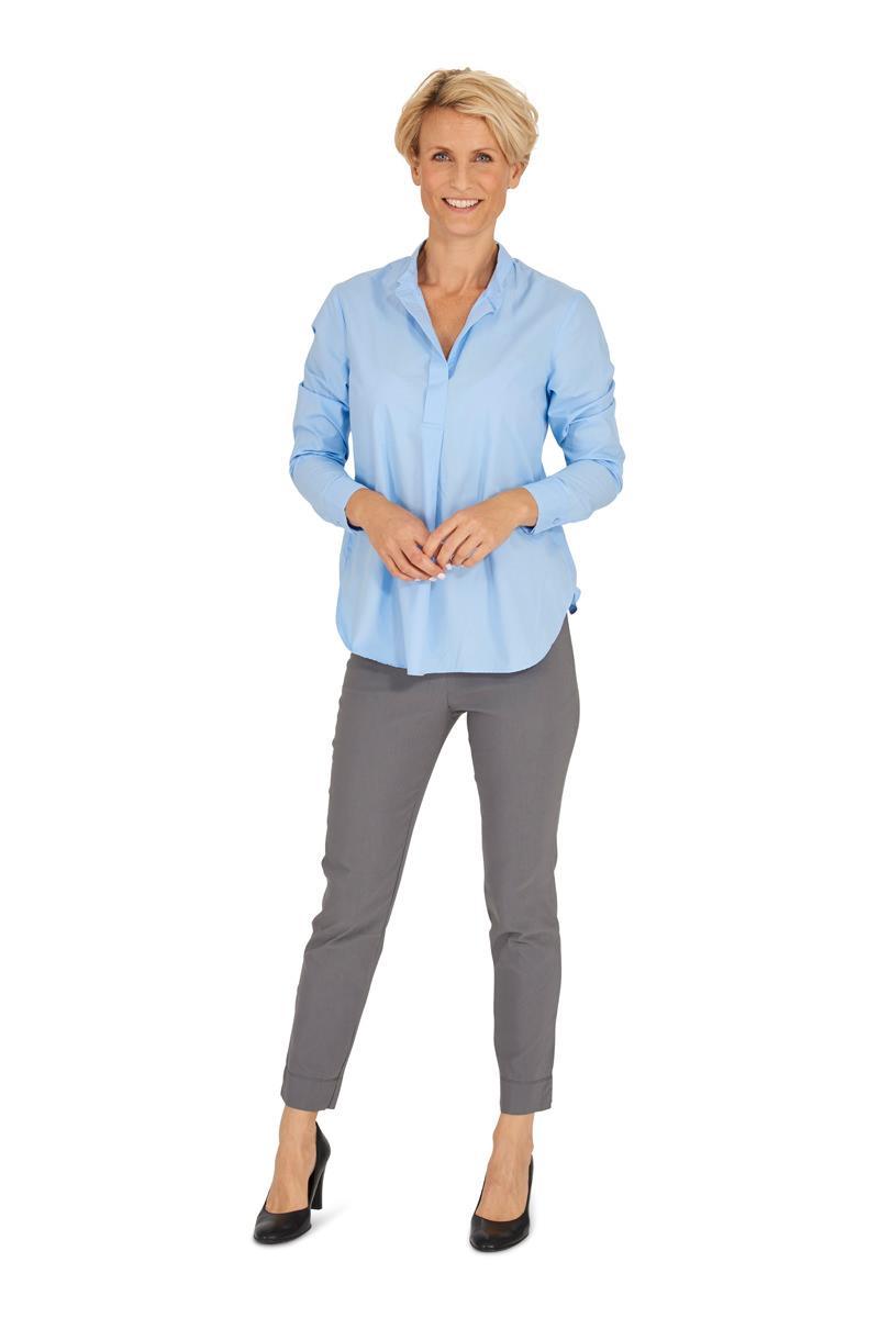 lichtblauwe blouse dames