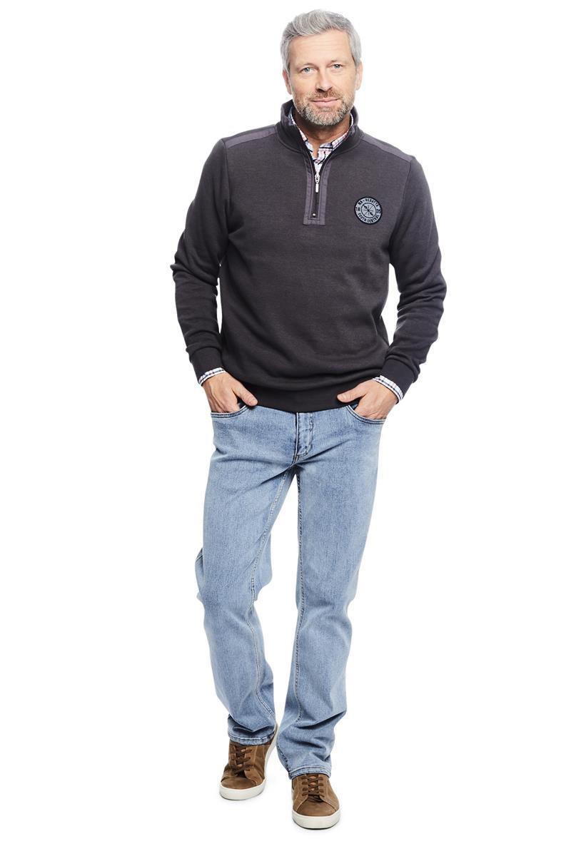 Trui Met Overhemd Heren.Heren Trui Troyer Grijs Miller Monroe