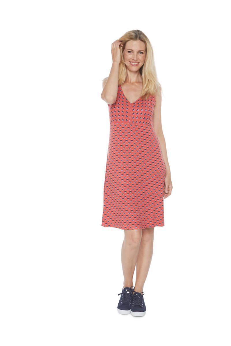 tom tailor women dames mouwloos jurk print rood miller monroe. Black Bedroom Furniture Sets. Home Design Ideas