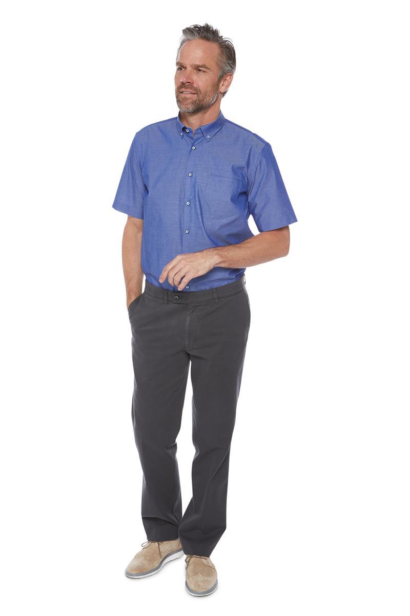 Korte Mouw Overhemd Mannen.Overhemd Regular Korte Mouw Denim