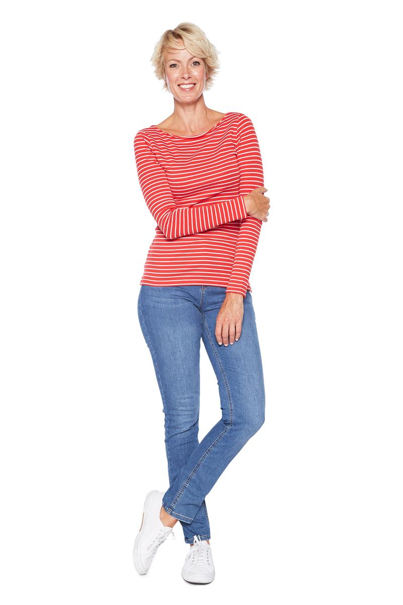 Women Shirt Tailor Zoom Tom Rood Gestreept 5EqfwH