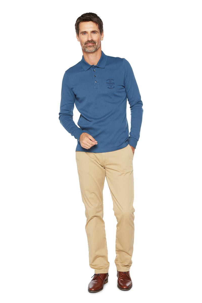 260138dfde7d Heren Polo Shirt Lange Mouwen - Miller&Monroe