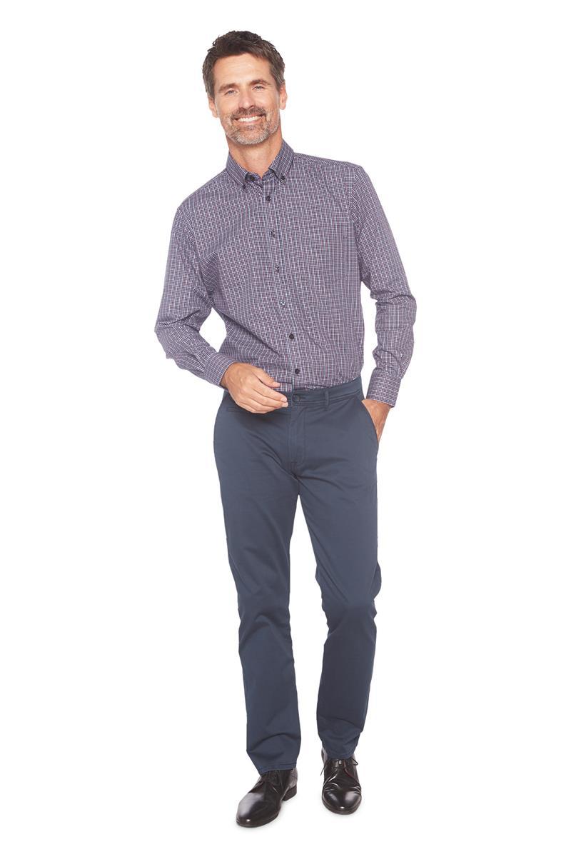 Paars Heren Overhemd.Heren Overhemd Roger Met Ruitmotief Paars Dessin Miller Monroe