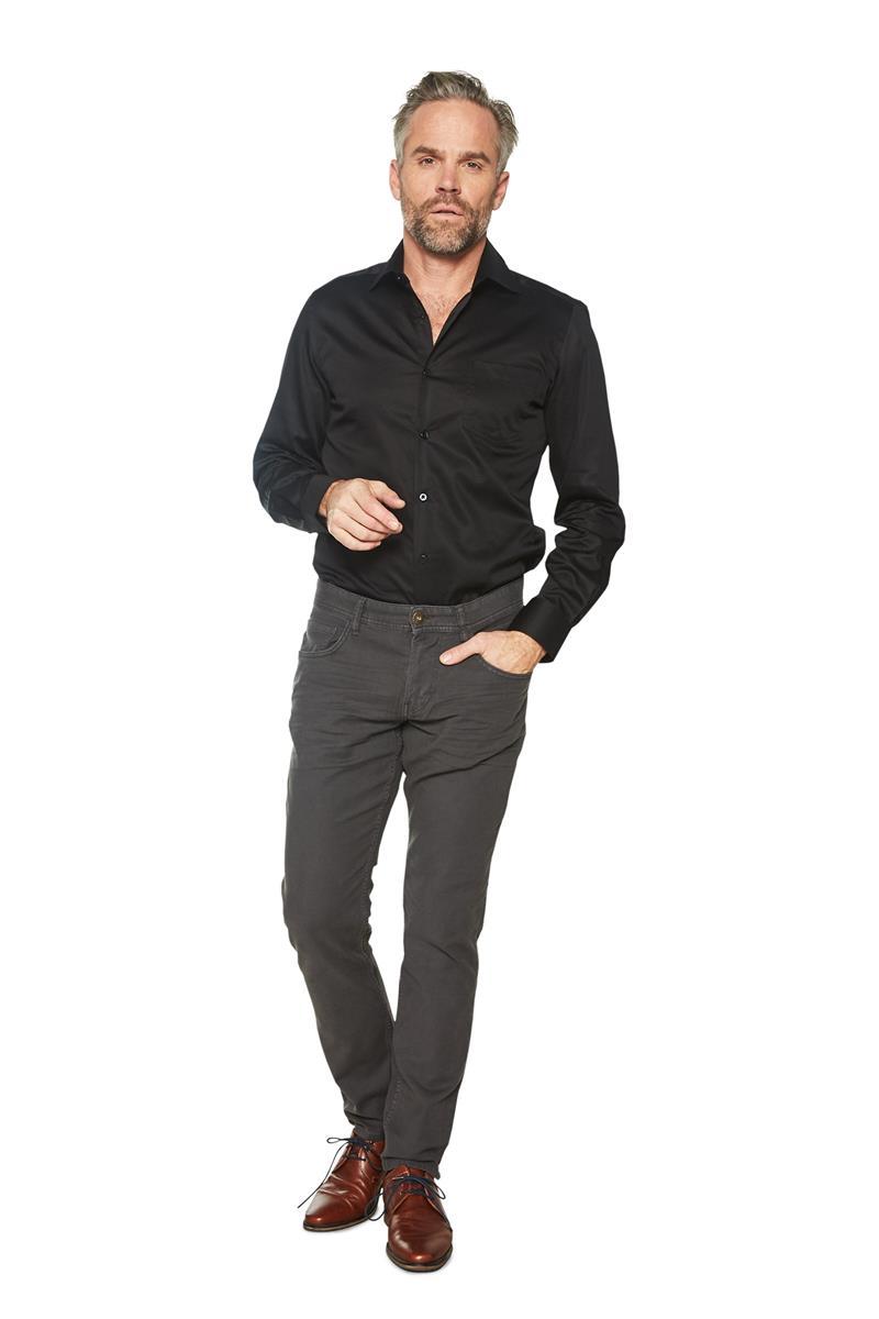 Heren Overhemd Zwart.Heren Overhemd Klassiek Basic Gerit Zwart Miller Monroe