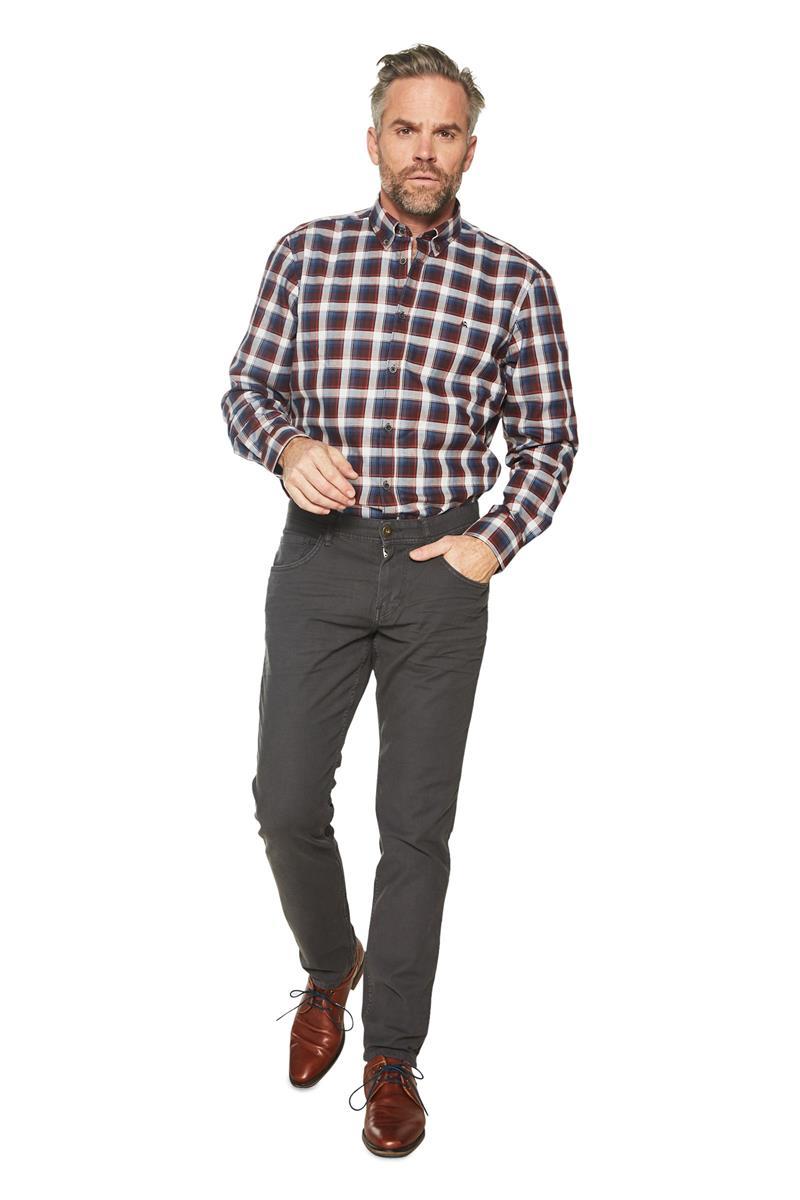 Ruiten Overhemd Heren.Heren Lerros Overhemd Ruiten Patroon Bordeaux Miller Monroe