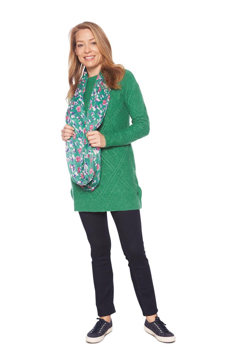Trui Dames Lang.Tom Tailor Women Trui Wol Groen