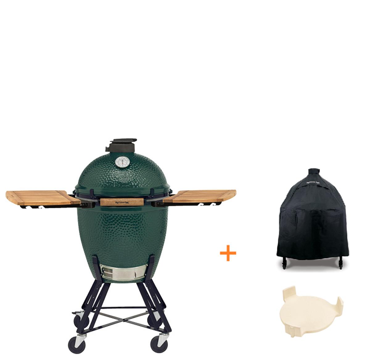 Big Green Egg Large + Onderstel + Zijtafels + Hoes Dé BBQ