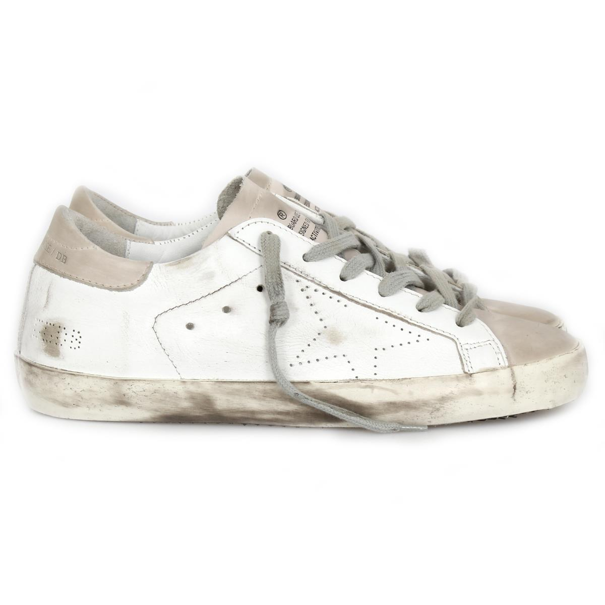 White and Grey Skate Superstar Sneakers Golden Goose uoXSiUh