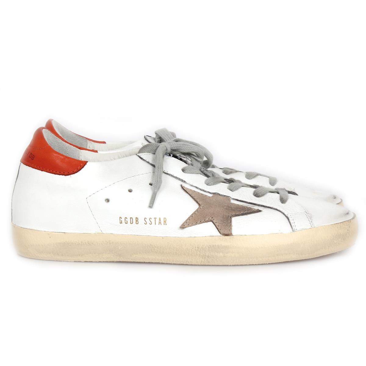 Golden Goose sneaker superstar white brick red. Zoom