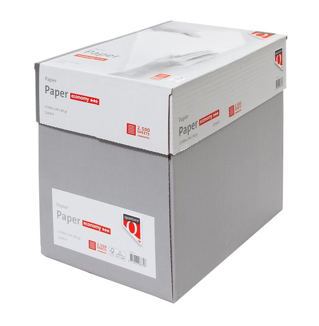 Kopieerpapier Quantore Economy Nonstop A4 80gr wit 2500vel