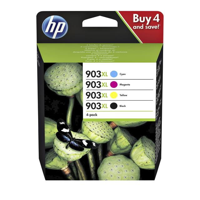 HP inktcartridges 903XL zwart + 3 kleuren