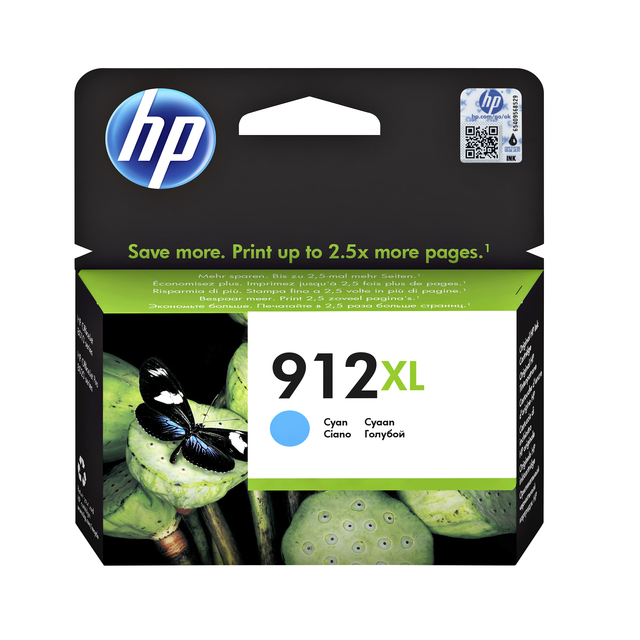 Inktcartridge HP 3YL81AE 912XL blauw