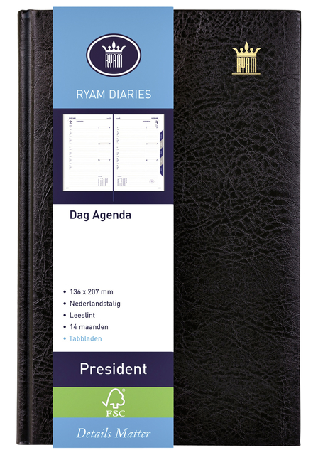 Agenda 2021 Ryam President 1dag/1pagina zwart