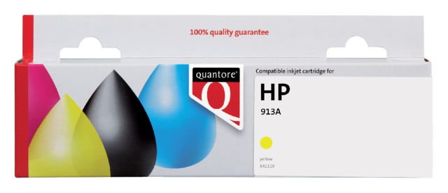 Inktcartridge Quantore HP F6T79AE 913A geel