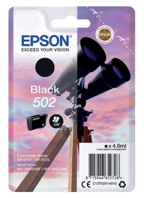 Epson inktcartridge 502 zwart