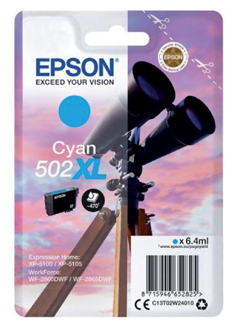 Inktcartridge Epson 502XL T02W2 blauw HC