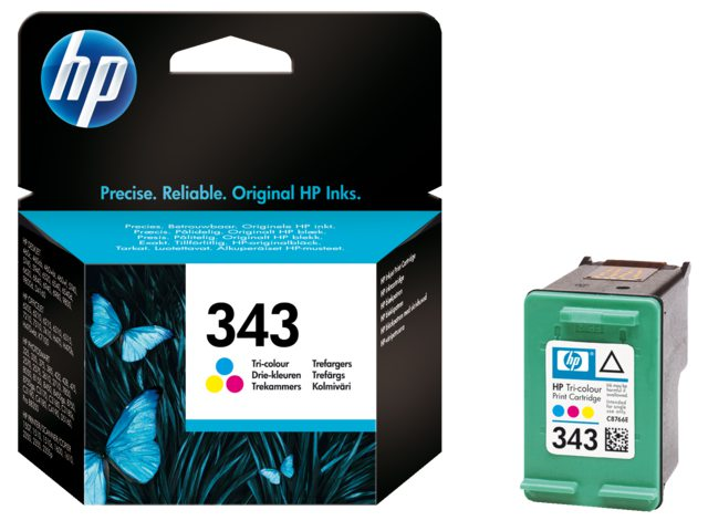 Inktcartridge HP C8766ee No 343 Tri-color