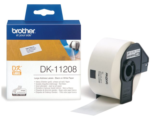 Etiket Brother Dk-11208 38mmx90mm Groot Adres