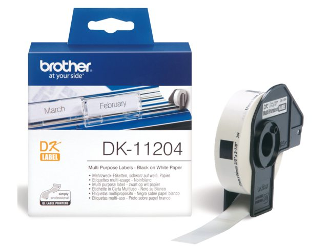 Etiket Brother Dk-11204 54mmx17mm
