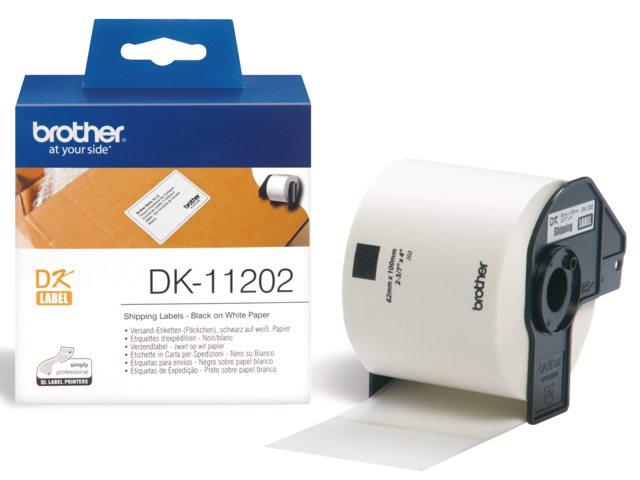 Etiket Brother Dk-11202 100mmx62mm Verzend