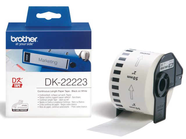 Etiket Brother Dk-22223 50mm Thermisch