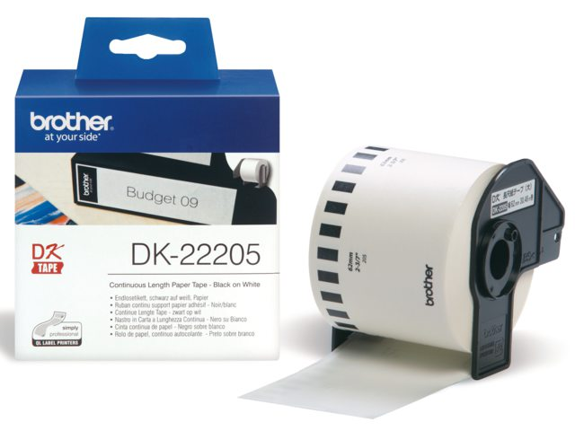 Etiket Brother Dk-22205 62mm Thermisch