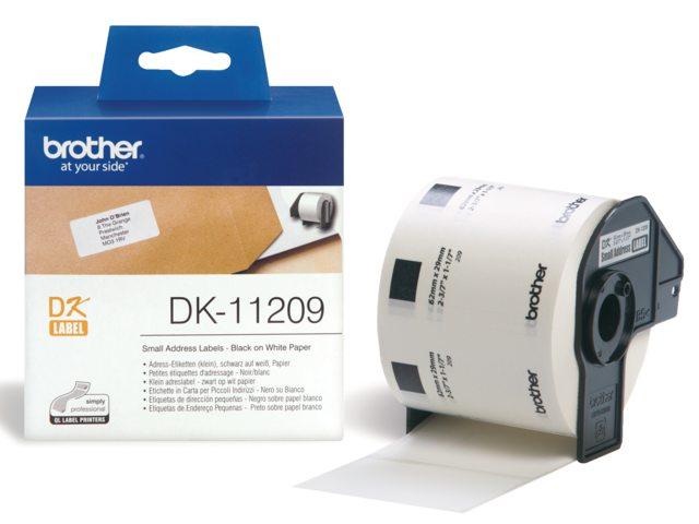 Etiket Brother Dk-11209 62mmx29mm Klein Adres