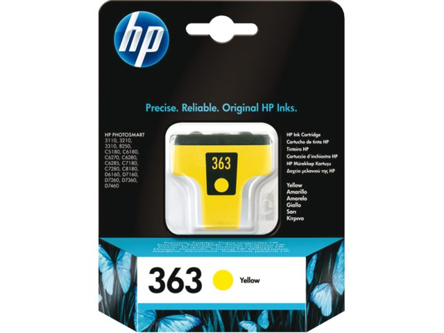 Inktcartridge HP C8773ee No 363 Geel
