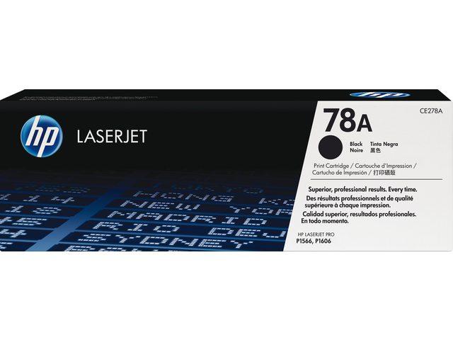 HP tonercartridge 78A zwart Ce278A 2.1k zwart