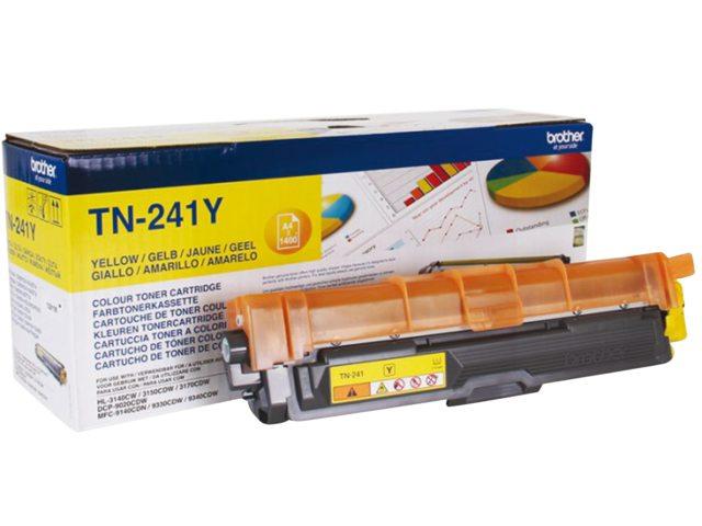 Brother tonercartridge Tn-241 1.4k geel