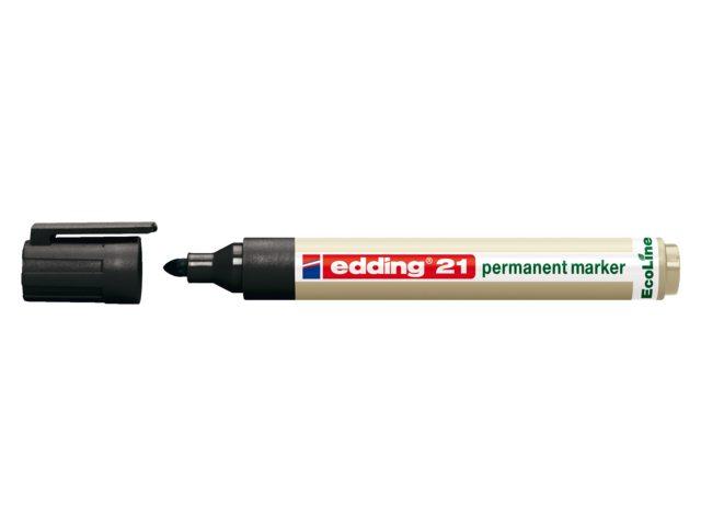 Viltstift Edding 21 Eco Rond 1.5-3mm Zwart