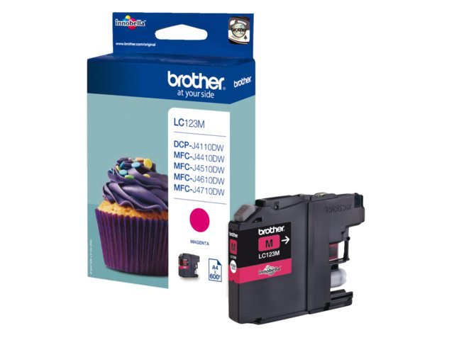 Inktcartridge Brother LC-123 Rood