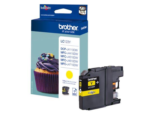 Inktcartridge Brother LC-123 Geel