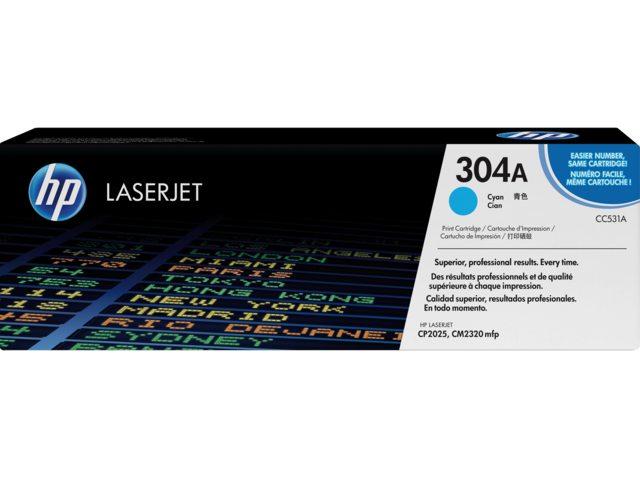 Tonercartridge HP 304A CC531A blauw 2.8k