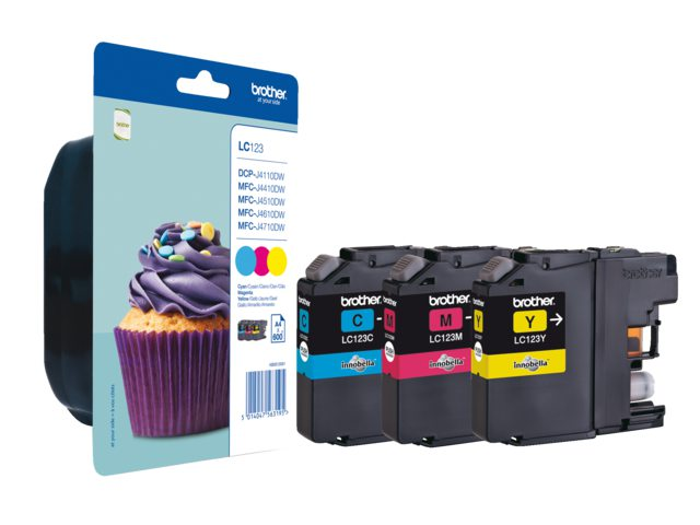 Inktcartridge Brother LC-123 Rainbowpack Bl Rd Gl