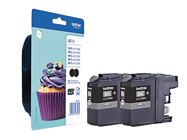 Inktcartridge Brother LC-123 Duopack