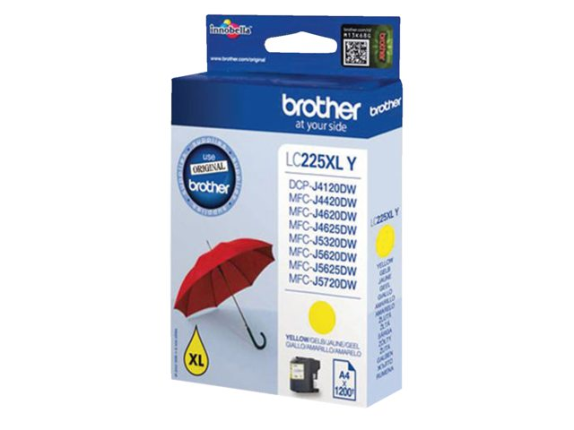 Brother inktcartridge LC-225XL geel