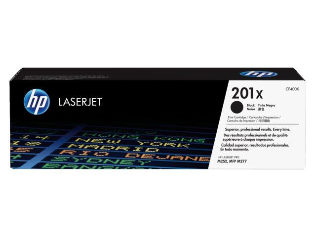 HP tonercartridge 201X CF400X zwart 2.8k