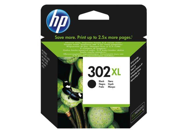 Inktcartridge HP 302 XL zwart F6U68AE