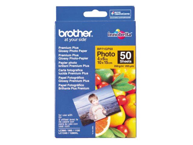Brother fotopapier BP-71 10x15cm glans 260gr