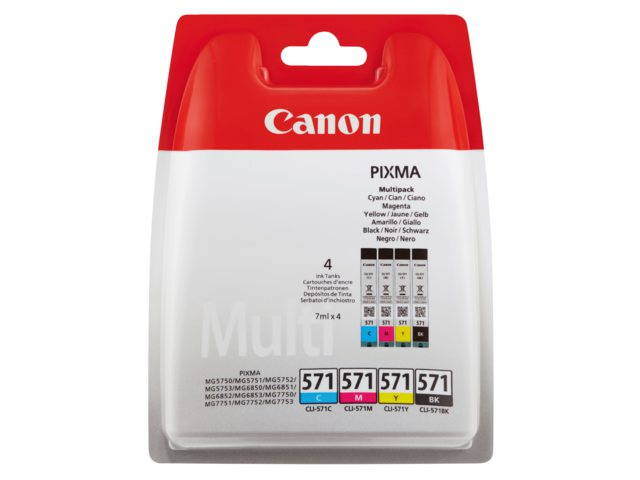 Canon inktcartridge multipak CLI-571 4st.